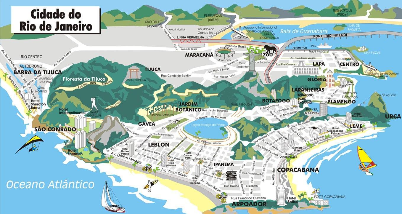 Rio De Janeiro Karte.3d Rio De Janeiro Karte Karte Von 3d Rio De Janeiro Bresil