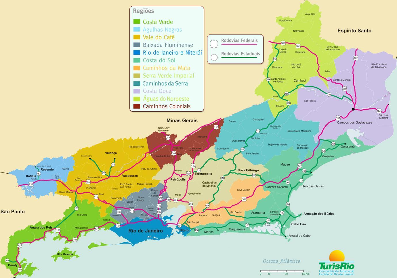 Rio De Janeiro Karte.Regionen Bundesstaat Rio De Janeiro Karte Karte Der