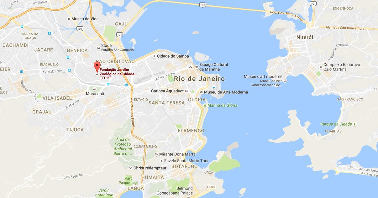 Rio De Janeiro Karte.Zoo Von Rio De Janeiro Karte Karte Der Zoo Von Rio De