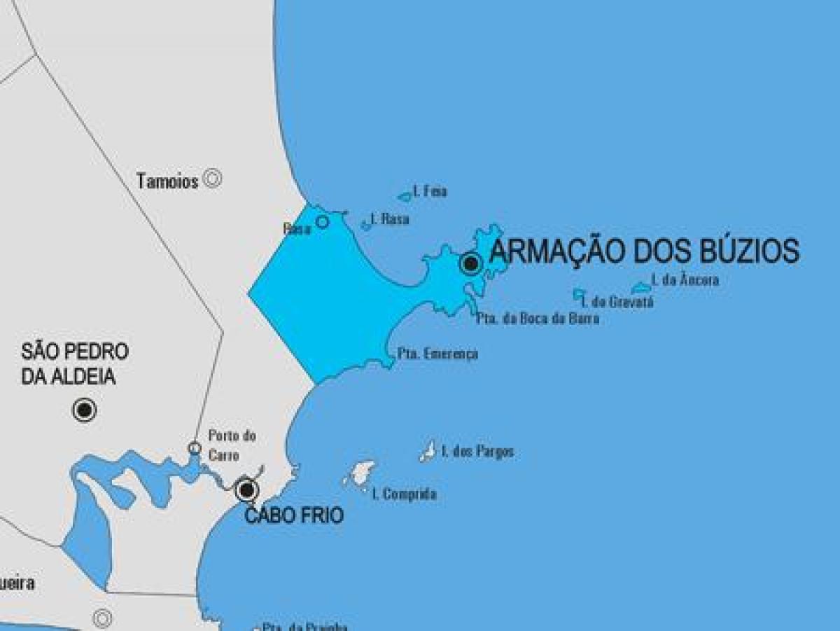 Armação dos Búzios Gemeinde-map - Karte von Armação dos Búzios on