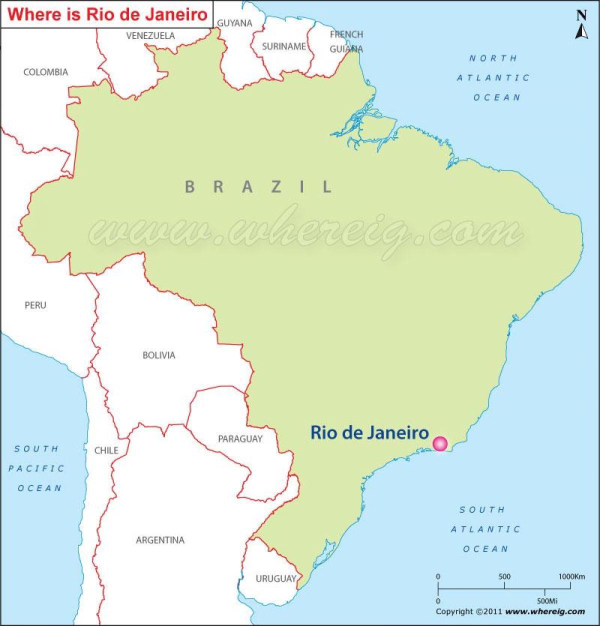 Rio de Janeiro Brasilien-map - Karte von Rio de Janeiro und ...
