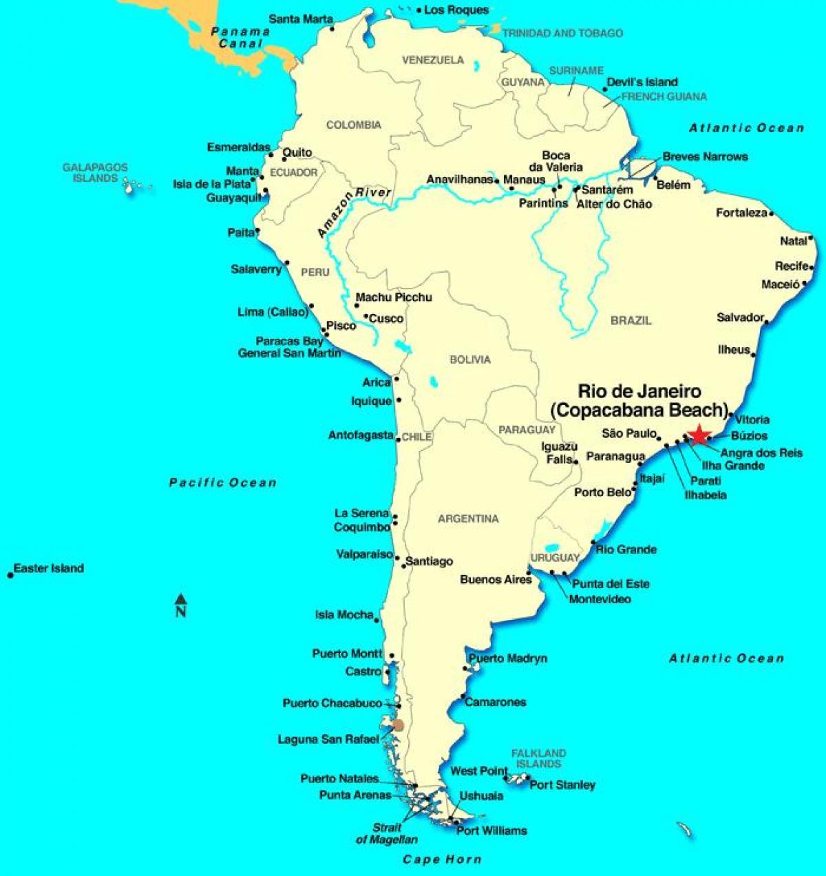 Rio de Janeiro Süd-Amerika-map - Karte von Rio de Janeiro in ...
